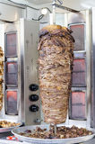 Delicious slabs of skewered fast food shawerma chicken and lamb Stock Image