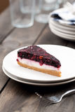 Delicious Slice of Berry Cheesecake Stock Image