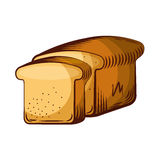 Delicious slice bread isolated icon. Vector illustration design royalty free illustration