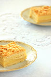 Delicious slice of bright shortcrust pastry Stock Photos