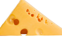 Delicious slice of cheese Stock Photography