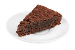 Delicious slice of chocolate cake Royalty Free Stock Images