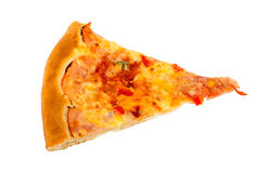 Delicious slice of pizza Stock Photos