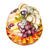 Delicious sliced fruits as a dessert platter. Stock Photography