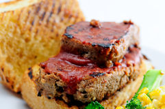 Delicious sliced meatload sandwich Stock Images