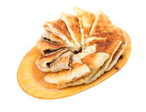 Delicious sliced puff pie. Royalty Free Stock Photo