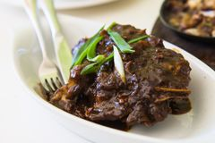 Slow cooked roast beef ribs Royalty Free Stock Photos