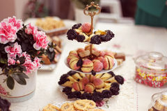 Delicious small cakes Royalty Free Stock Image