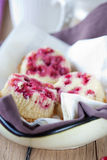 Delicious small red currant cakes Royalty Free Stock Photos