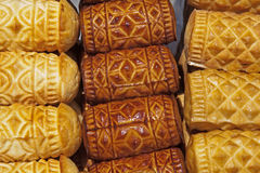 Delicious smoked cheese from polish tatra mountain Stock Image
