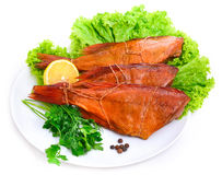 Delicious smoked fish  ocean perch Royalty Free Stock Images