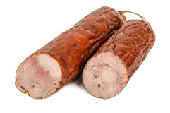 Delicious smoked sausage Royalty Free Stock Photography