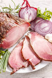 Delicious smoked spicy pork loin Stock Images