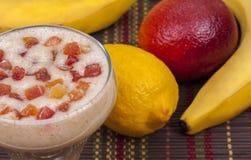 Delicious smoothie of banana. Royalty Free Stock Photo