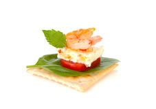 Delicious snack on toast Royalty Free Stock Images