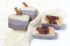 Delicious soap cake, coffee scented. Cold processed and slowly Royalty Free Stock Image