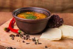 Delicious soup stock photo