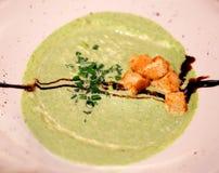 Delicious soup cream of broccoli Royalty Free Stock Photo