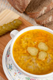 A delicious soup made from pickled cucumbers Royalty Free Stock Photography