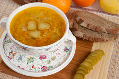 A delicious soup made from pickled cucumbers Royalty Free Stock Photos