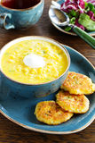 Delicious soup young corn Stock Photography