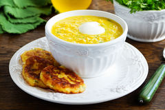 Delicious soup young corn Royalty Free Stock Image