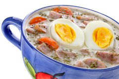 Delicious sour soup with egg Stock Photography