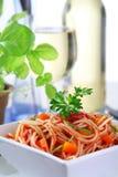 Delicious spaghetti Stock Photos