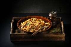 Spaghetti with bolognese sauce Royalty Free Stock Images