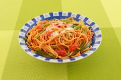 Delicious spaghetti royalty free stock images