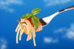 Delicious spaghetti with tomato Royalty Free Stock Image
