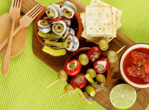 Delicious Spanish Snacks Royalty Free Stock Photos