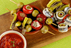 Delicious Spanish Snacks Royalty Free Stock Images