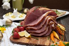 Spicey Ham For Easter Royalty Free Stock Images