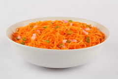 Delicious and spicy carrot salad. Stock Photo