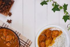 Delicious and spicy Chicken curry roast from Indian cuisine. Delicious and spicy Chicken curry roast from Indian cuisine stock images