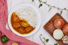 Delicious and spicy Chicken curry roast from Indian cuisine. Delicious and spicy Chicken curry roast from Indian cuisine stock photo