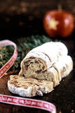 Delicious spicy fresh panettone sweet bread Royalty Free Stock Image