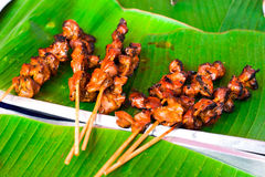 Delicious spicy grilled chicken at Thai market Stock Photo