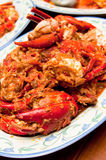 Delicious Spicy Hot Chili Crab Royalty Free Stock Image
