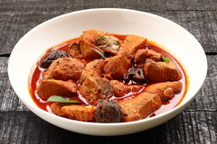Delicious and spicy king fish curry Stock Image