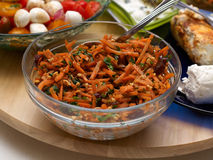 Delicious spicy oriental carrot salad Stock Photo