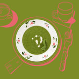 Delicious spinach soup. Stock Images