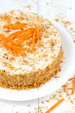 Delicious sponge cake with walnut crumbs and Royalty Free Stock Photos