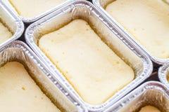 Delicious square box cheese cake Stock Photo