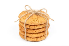 Delicious stacked oatmeal cookies Royalty Free Stock Photos