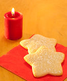 Delicious star shaped Christmas cookies Stock Photo