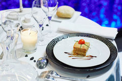 Delicious starter on wedding reception Stock Photo