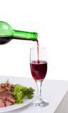 A delicious steak with red wine Stock Photo