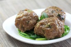 Delicious steam beef meat ball royalty free stock photos